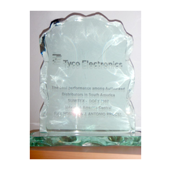 TYCO ELECTRONICS THE BEST PERFORMANCE AMONG AUTHORIZED DISTRIBUTORS IN SOUTH AMERICA DISTRIBUTORS OF THE YEAR. NOVEMBER 2007
